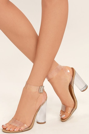Steve Madden Clearer Clear Lucite Heels at Lulus.com!