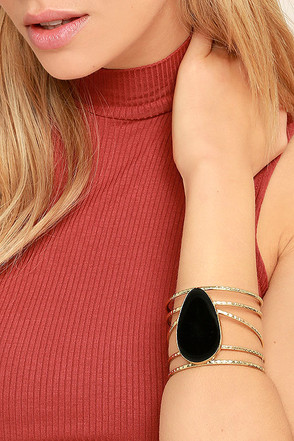 Wandering Star Black and Gold Cuff Bracelet at Lulus.com!