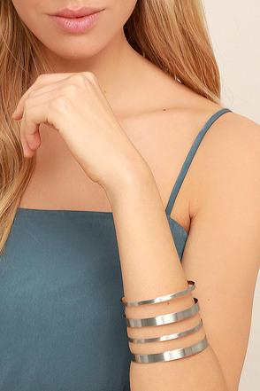 Architect Silver Cuff Bracelet 1