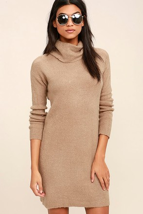 BB Dakota Collins Taupe Sweater Dress at Lulus.com!