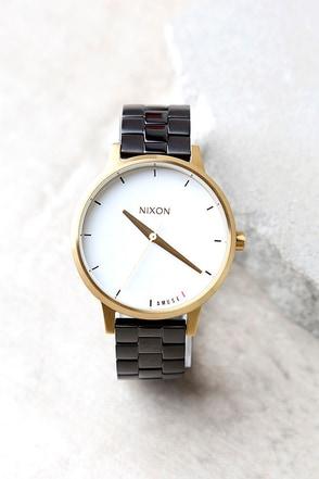 Nixon X Amuse Society Kensington Light Gold and Black Watch 1