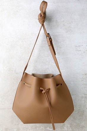 Ride West Tan Bucket Bag at Lulus.com!