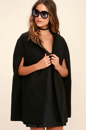 BB Dakota Cambridge Black Cape at Lulus.com!
