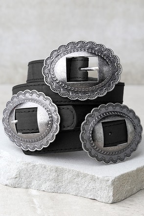 Missoula Silver and Tan Double Buckle Belt at Lulus.com!