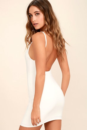 Lucky Day Light Blush Backless Bodycon Slip at Lulus.com!