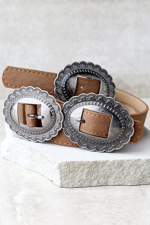Missoula Silver and Black Double Buckle Belt at Lulus.com!
