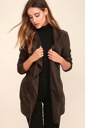 Found a Love Charcoal Grey Suede Jacket at Lulus.com!