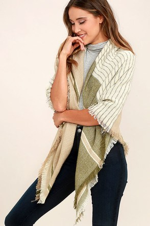 Trading Heartbeats Green Print Scarf at Lulus.com!