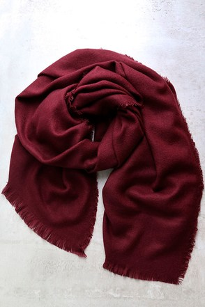 Cool Breeze Burgundy Scarf at Lulus.com!