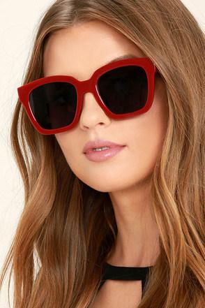Perverse Ace Sunglasses Burgundy Sunglasses Square