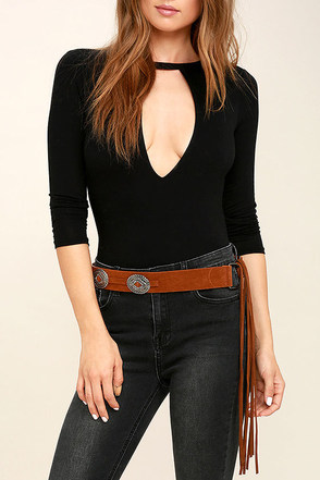 Tundra Silver and Black Fringe Belt at Lulus.com!