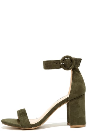 Susie Olive Suede Ankle Strap Heels at Lulus.com!