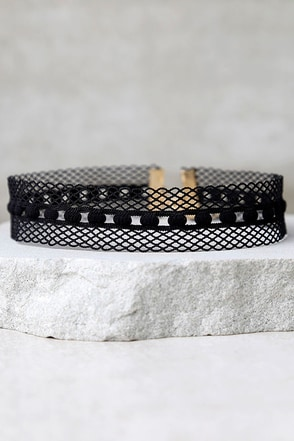 Caught in Love Black Choker Necklace at Lulus.com!