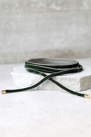 Welcome to My Layer Olive Green Velvet Wrap Necklace at Lulus.com!
