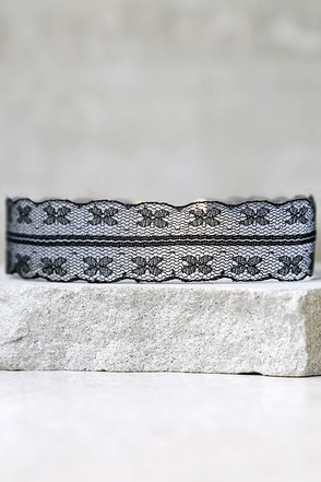 All Better Black Lace Choker Necklace at Lulus.com!