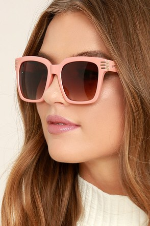 Perverse Avery Blush Sunglasses at Lulus.com!