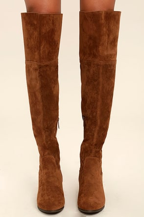 Dolly Tan Suede Over the Knee Boots 1