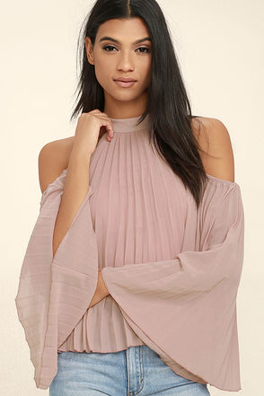 Cheerful Little Earful Mauve Pink Top at Lulus.com!