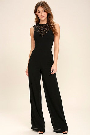 I Turn to You Black Sequin Jumpsuit at Lulus.com!