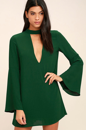 Deeply in Love Dark Green Shift Dress at Lulus.com!