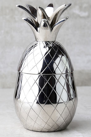 The Pineapple Co. Silver Pineapple Tumbler 1