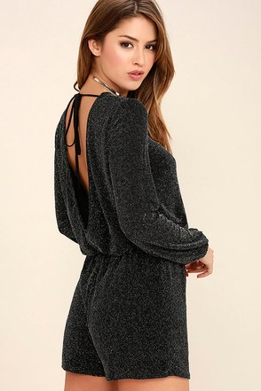 In the Night Black Romper at Lulus.com!