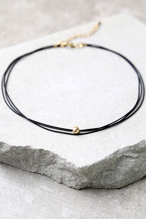 Chic Instinct Black and Silver Choker Necklace at Lulus.com!
