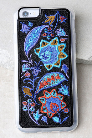 Zero Gravity Bohemia Blue Embroidered iPhone 6 and 6s Case 1