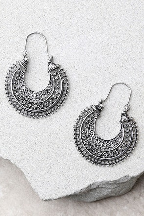 Worldly Wisdom Silver Earrings at Lulus.com!