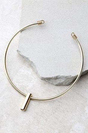Best-Case Scenario Gold Collar Necklace at Lulus.com!