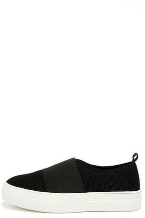 Steve Madden Glenn-M Black Mesh Flatform Sneakers at Lulus.com!