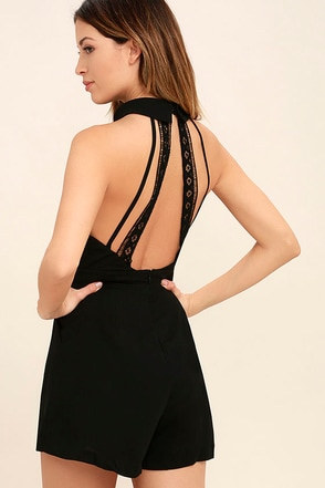 Pieces of Me Black Romper at Lulus.com!