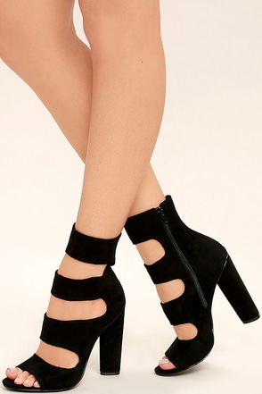 Steve Madden Tawnie Olive Green Suede Caged Heels at Lulus.com!
