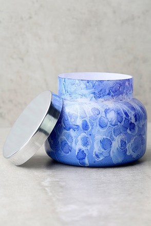 Capri Blue Blue Jean Watercolor Jar Candle 1