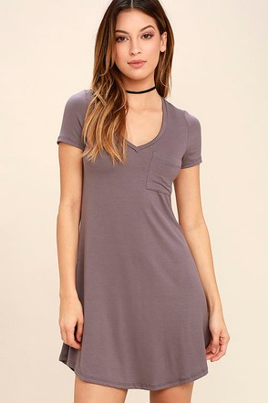 Better Together Dusty Purple Shirt Dress at Lulus.com!