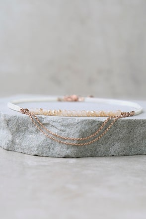 Renaissance Blush and Ivory Choker Necklace at Lulus.com!