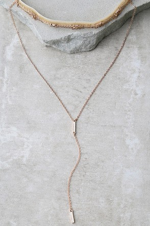 Rhythm Divine Rose Gold and Beige Velvet Layered Choker Necklace at Lulus.com!