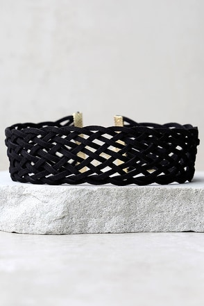 Lattice Explain Grey Choker Necklace at Lulus.com!
