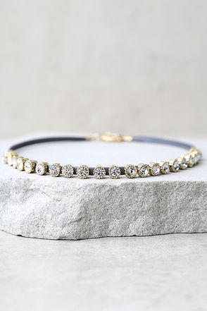 Illusionist Grey Rhinestone Choker Necklace at Lulus.com!