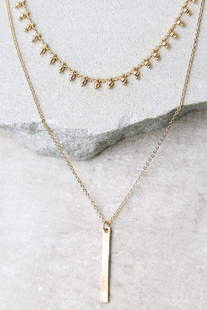 Infatuation Gold Layered Choker Necklace at Lulus.com!