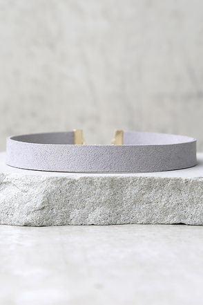 Modernist Grey Choker Necklace at Lulus.com!