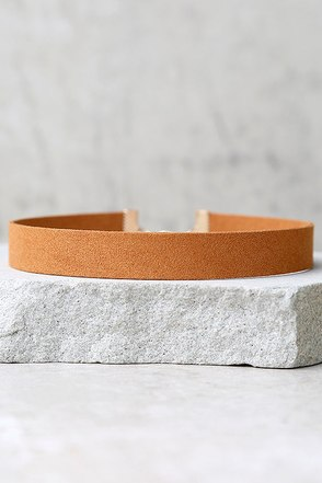 Modernist Tan Choker Necklace at Lulus.com!