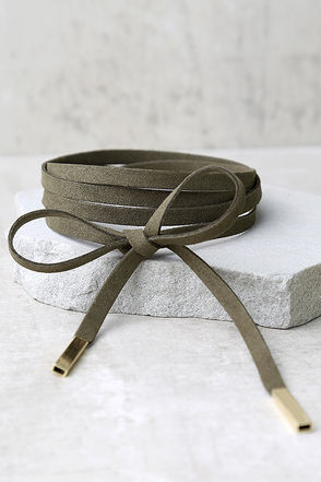 Unity Olive Green Wrap Necklace at Lulus.com!