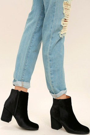 Annette Black Velvet Ankle Booties at Lulus.com!