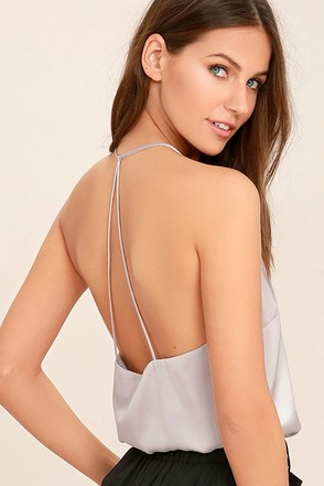 Spark a Fire Blush Satin Top at Lulus.com!