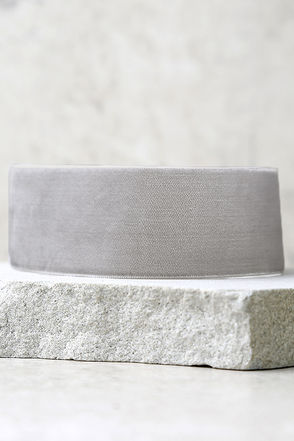 Smooth Operator Grey Velvet Choker Necklace at Lulus.com!