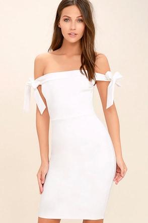 Cause a Commotion Blush Pink Off-the-Shoulder Dress at Lulus.com!