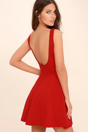 Call Me Anytime Black Backless Skater Dress at Lulus.com!