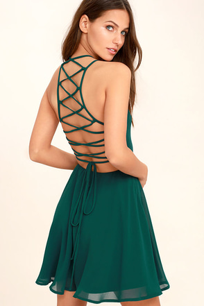 Good Deeds Magenta Lace-Up Dress at Lulus.com!
