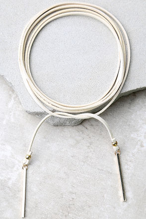Renegade Gold and Ivory Wrap Necklace at Lulus.com!